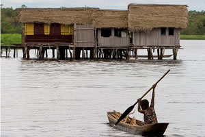 Nzulezu Floating Village.