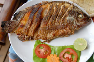 Grilled Tilapia, a local delicacy.